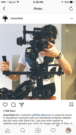 DJI Ronin with Came TV Vest and Arm