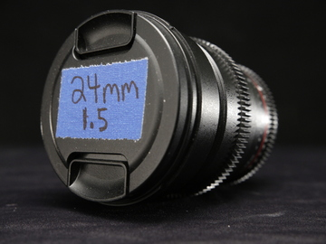 Rent: 24mm rokinon w/ motiondogs follow focus (quick listing)