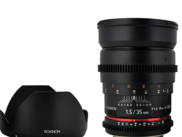 Rent: The Canon EF mount Rokinon 35mm T1.5 Cine ED AS IF UMC Lens