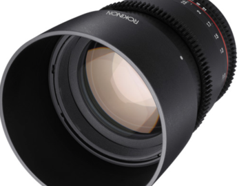 Rent: The Sony E mount Rokinon 85mm T1.5 Cine AS UMC Lens was deve