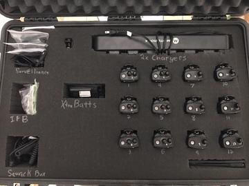 Rent: 12x Professional Walkie Talkie Kit w/ Surveillance