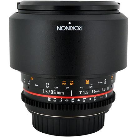 Rokinon CV85M-C 85mm t/1.5 Aspherical Lens for Canon with De