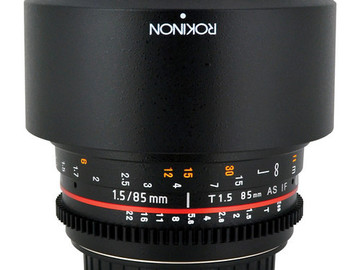 Rokinon CV85M-C 85mm t/1.5 Aspherical Lens for Canon with De