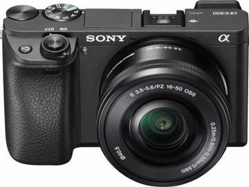 Rent: Sony - Alpha a6300 Mirrorless Camera with E PZ 16–50 mm F3.5