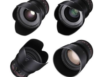 Rent: Rokinon Cine DS Lens Kit 24m, 35m, 50m, 85m, Tokina 11-16