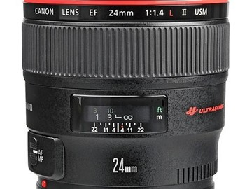 Rent: Canon EF 24mm f/1.4 L II USM Lens