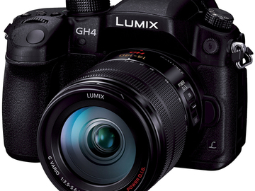 Rent: Panasonic Lumix GH4 4K  lens+2 Batts + 2(64) SD +mount/stand