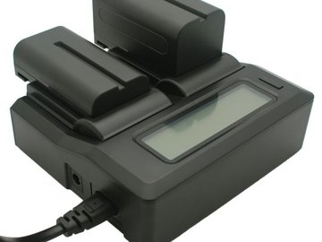 Rent:  Dual-Channel LCD Display Charger for Sony NP-F Series Camco