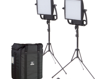 Rent: Two ASTRA 1X1 EP Bi Color LED Panel with Chimera and V-mount