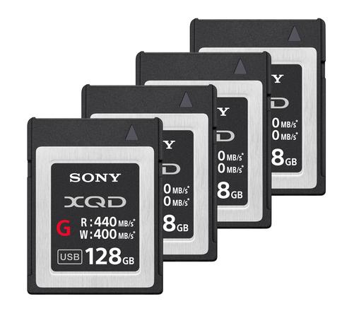 4x Sony 128GB XQD Card Package