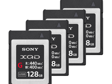 Rent: 4x Sony 128GB XQD Card Package