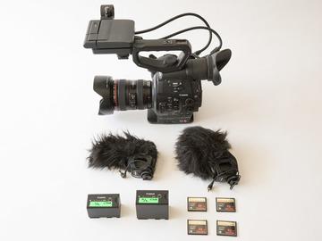 Rent: Canon C300 EF Dual Pixel Basic Kit + Sound