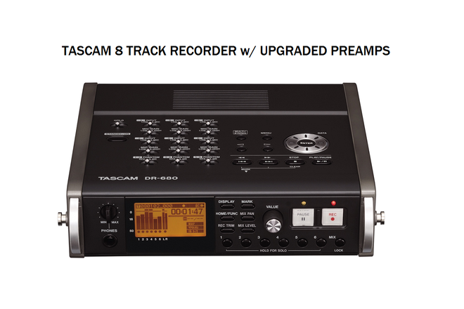 Tascam DR‑680 (upgraded preamps) 8-Track Recorder
