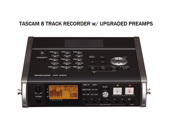 Rent: Tascam DR‑680 (upgraded preamps) 8-Track Recorder