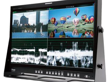 """Rent: 24"""" Tv Logic single/Quad split 1080p monitor"""