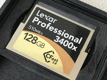 Rent: Lexar Professional 3400x 128GB CFast 2.0 Card (3 of 8)