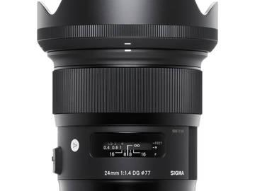 Rent: Sigma 24mm F1.4 ART DG HSM Lens for Canon