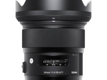 Rent: Sigma 24mm F1.4 ART DG HSM Lens for Canon