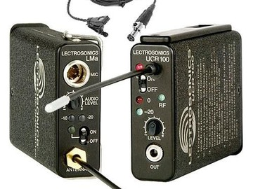 Rent: Lectrosonics UCR 100 Series Lav Mic set