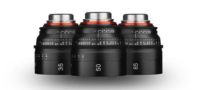 Xeen Cinema Lens kit for commercials (EF) 35, 50, 85mm T1.5