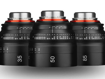 Rent: Xeen Cinema Lens kit for commercials (EF) 35, 50, 85mm T1.5