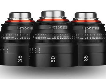 Rent: Xeen Cinema Lens kit for commercials (EF) 35, 50, 85mm T1.5
