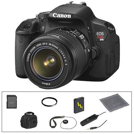 Canon EOS Rebel T4i DSLR with 18-55mm, 75-250mm