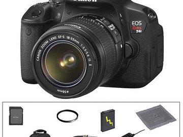 Rent: Canon EOS Rebel T4i DSLR with 18-55mm, 75-250mm