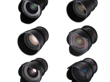 Rent: Rokinon Cine DS 6 Lens Kit
