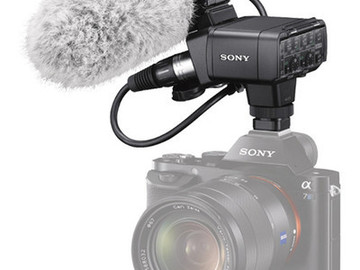 Rent: Sony XLR-K2M XLR Adapter Kit with Shotgun Mic