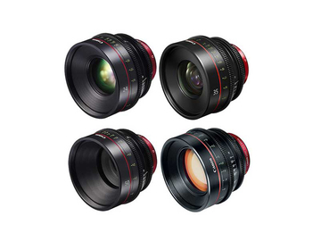 Rent: Canon Cine 4 Lens Package 24 | 35 | 50 | 85 Primes Set
