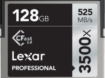 Rent: 2X 128GB Sandisk Extreme Pro CFast 2.0