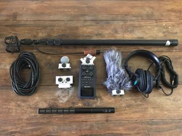 Rent: Zoom H6 recorder with Sennheiser ME66/K6 Mic, Headphones