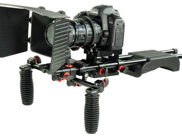 Rent: Full DSLR camera kit with shoulder mount package.