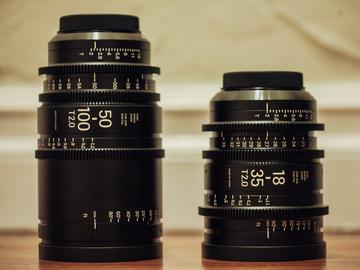Rent: New Sigma Cine LENS Package 18-35mm T2 + 50-100mm ZOOM EF