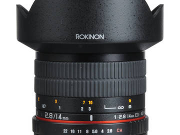 Rent: Rokinon 14mm f/2.8 (with AE chip mod)