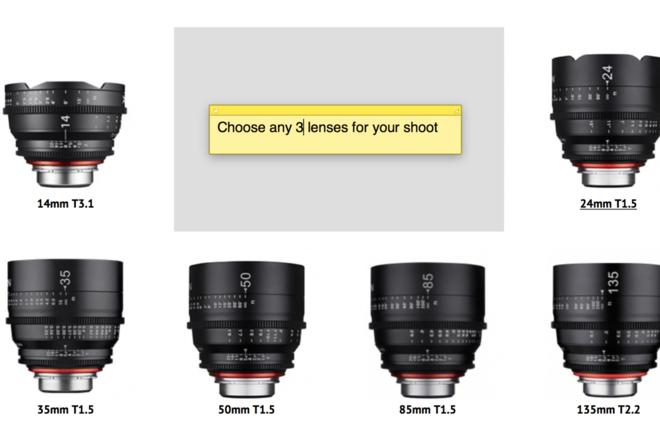 Xeen EF 3 Lens (Pick Ya Poison 14-16-20-24-35-50-85-135)