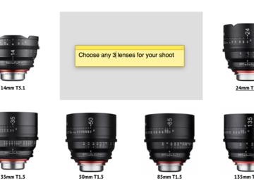 Rent: Xeen EF 3 Lens Rental (Pick Ya Poison 14-24-35-50-85-125)