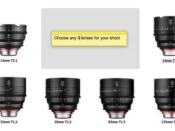 Rent: Xeen EF 3 Lens (Pick Ya Poison 14-16-20-24-35-50-85-125)