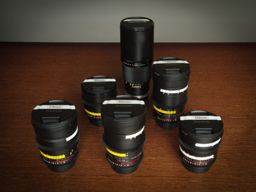 Rokinon Cine DS 6 Prime Lens set, EF mount, 24 ... 300mm
