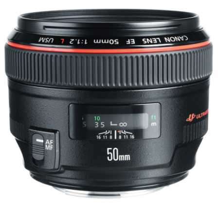 Canon EF 50mm f/1.2L Prime Lens (L-Series) + FILTERS