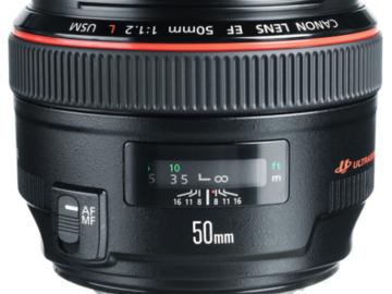 Rent: Canon EF 50mm f/1.2L Prime Lens (L-Series)