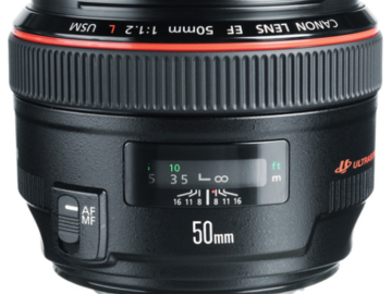 Rent: Canon EF 50mm f/1.2L Prime Lens (L-Series) + FILTERS