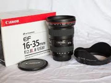 Rent: Canon 16-35 L Series USM II