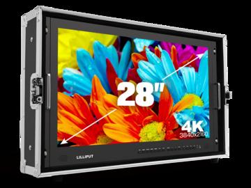 """Rent: Lilliput 4K 28"""" Client Monitor (V-Mount) +C-Stand, batt, SDI"""