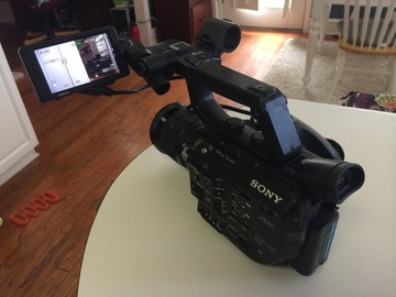 Rent: Sony FS-5 with kit lens and 50mm lens