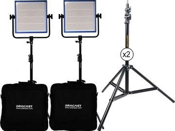 Rent: 2x Dracast LED1000 Plus Series Bi-Color LED Light 1x1 panels