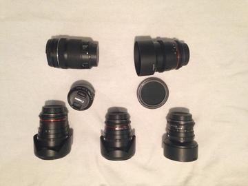 Rent: Rokinon EF Cinema Lens Kit