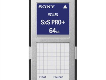Rent: Sony SxS Pro Media Cards - 64gb