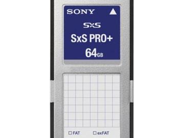 Rent: 2 x Sony SxS Pro Media Cards - 64gb (Special)